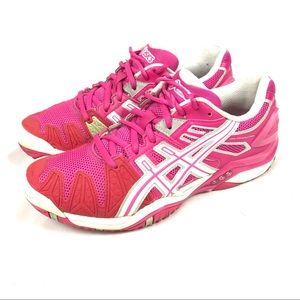 ASICS gel resolution 5 E350Y pink tennis shoes